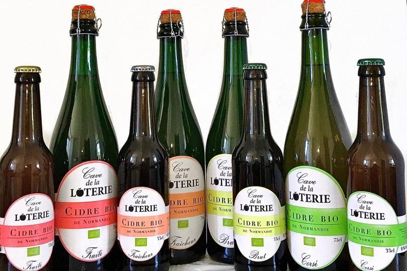 bouteilles cidre de la Loterie